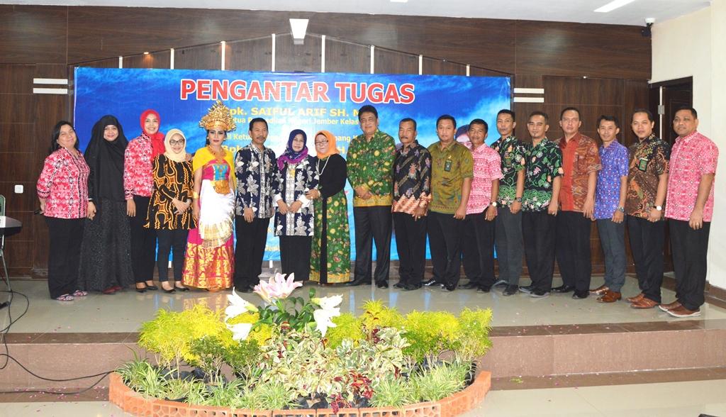 Pengantar Tugas KPN dan WKPN serta Purna Bhakti Pegawai Pengadilan Negeri Jember