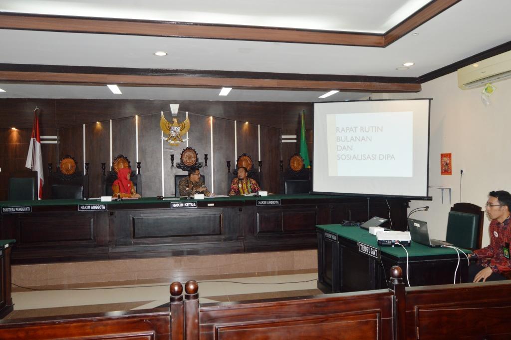Rapat Rutin Bulanan Desember serta Sosialisasi DIPA