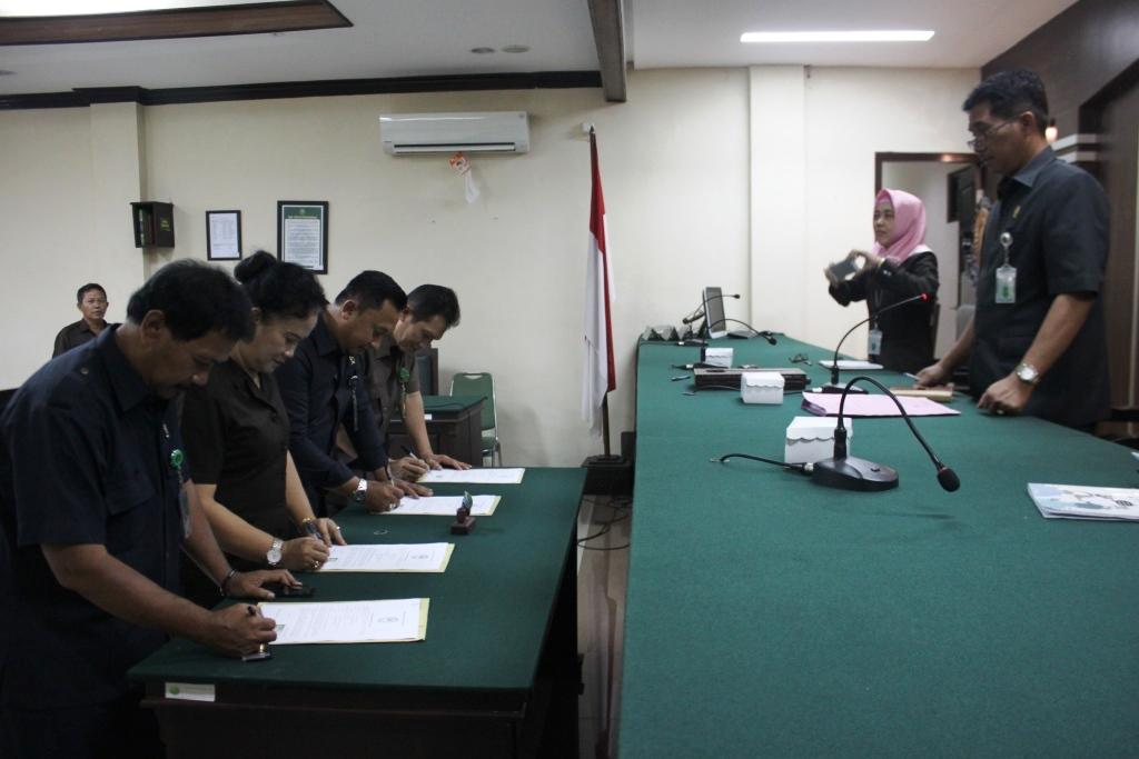 Rapat Bulanan, Penandatanganan Perjanjian Kinerja dan Pakta Integritas
