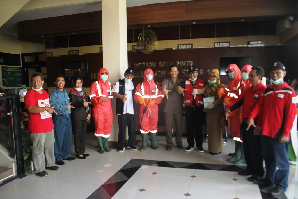Upaya antisipasi Penyebaran Virus Covid 19 di Pengadilan Negeri Jember bersama PMI