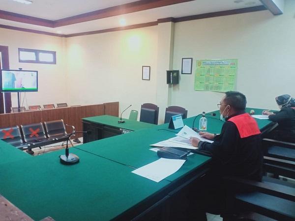 Sidang Online Pemohonan sebagai salah satu Inovasi Layanan Program Tilik Desa PN Jember