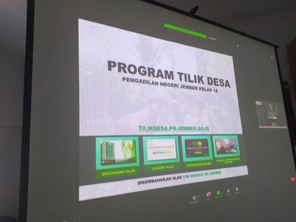 Peresmian Program TILIK Desa dan Posbakum Online oleh Ketua Pengadilan Tinggi Surabaya